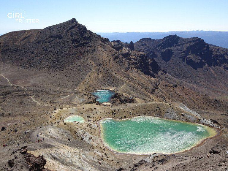 Les lacs emeraudes Randonnée Tongariro Alpine Crossing Nouvelle-Zélande- Girltrotter