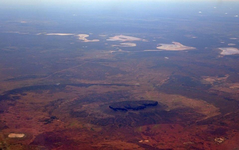 Australie Centre Rouge - Red Desert vu du ciel - Girltrotter