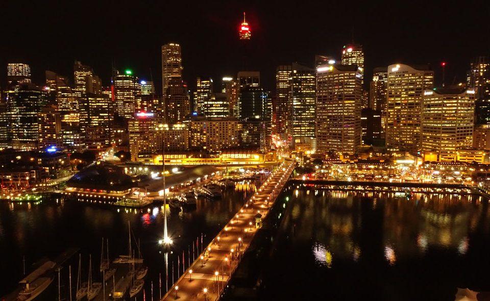 Sydney by night darling harbour
