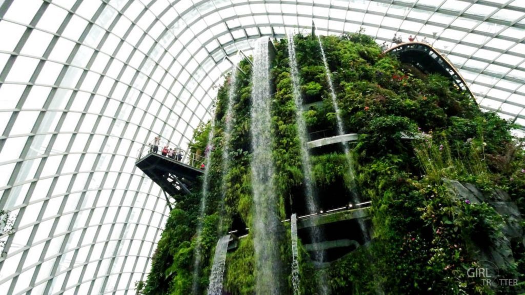 The Clouds Forest, une des serres de Gardens by the Bay à Singapour - Girltrotter-6