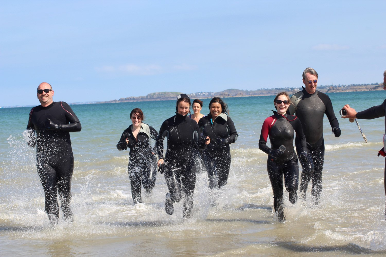 marche aquatique - long côte avec Les Pingouins Castins - Saint-Cast-le Guildo