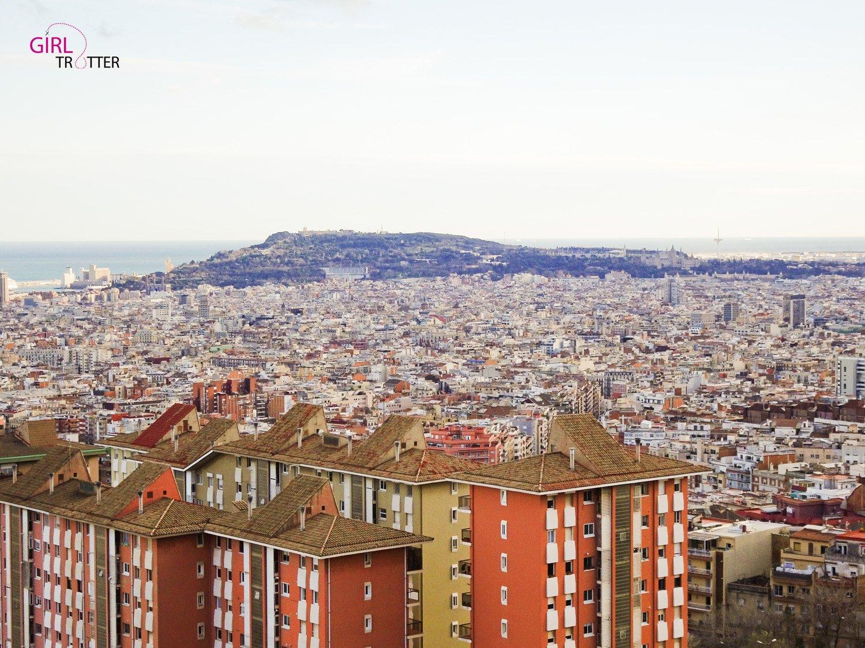 Barcelone vu du parc Guinardo