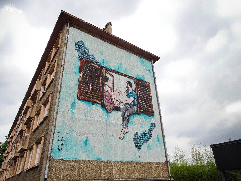Lille Street Art Fresque deJS et Jana - Girltrotter