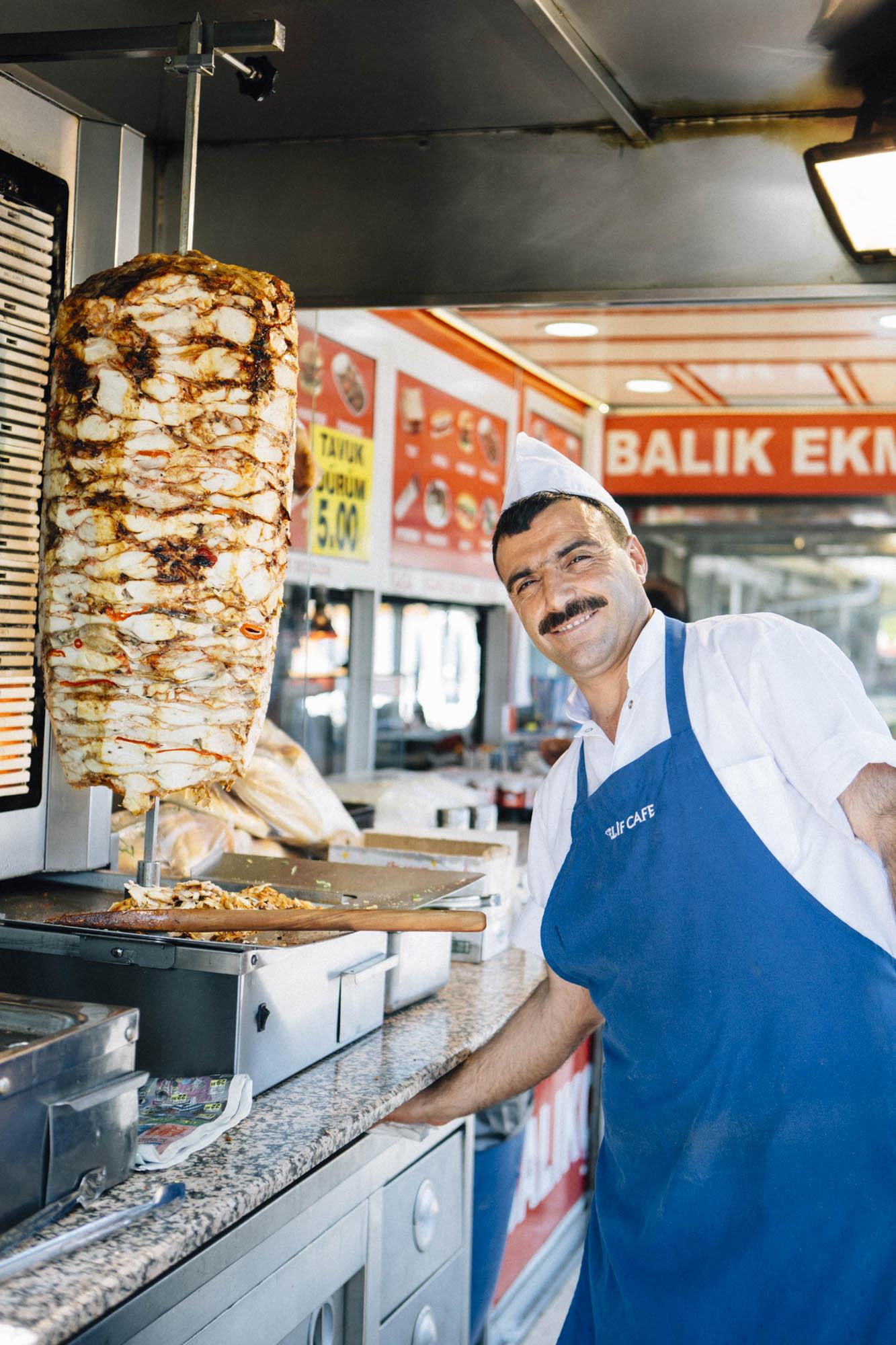 Portrait d'un vendeur de Kebab Istanbul