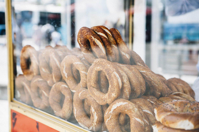 Stand ambulant de pain simit istanbul