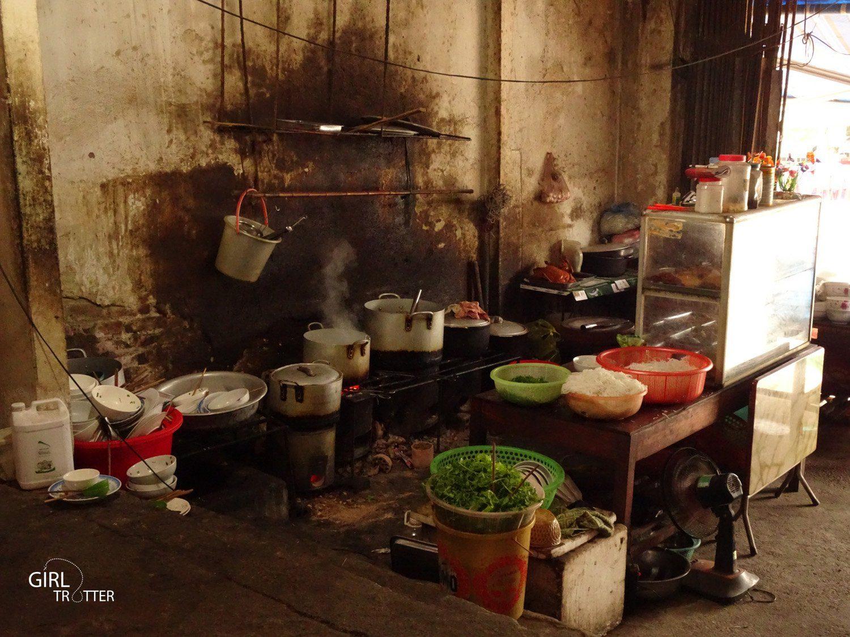 Cuisine d'un restaurant au vietnam