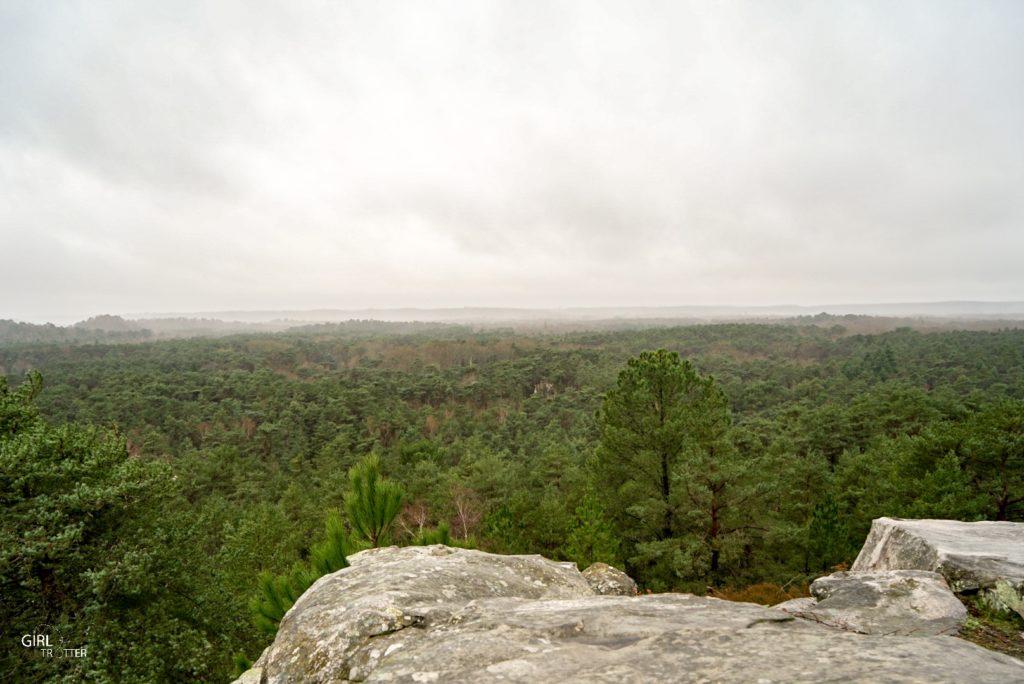 Randonnée des 25 bosses foret de Fontainebleau en Ile de France