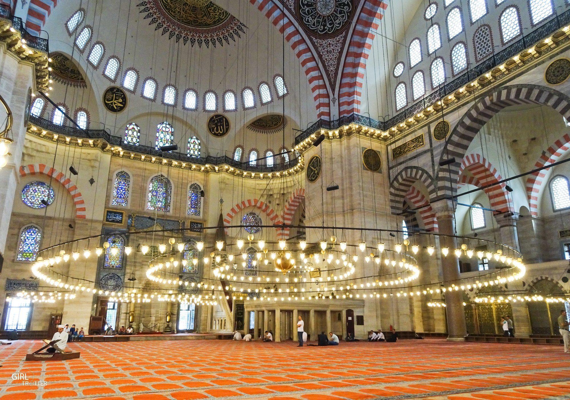 Interieur de la mosquee de Soliman le Magnifique