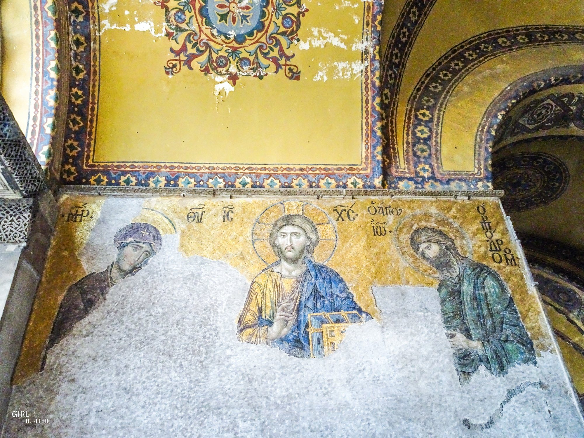 Mosaiques chretiennes de la Basilique Sainte Sophie ou Ayasophya