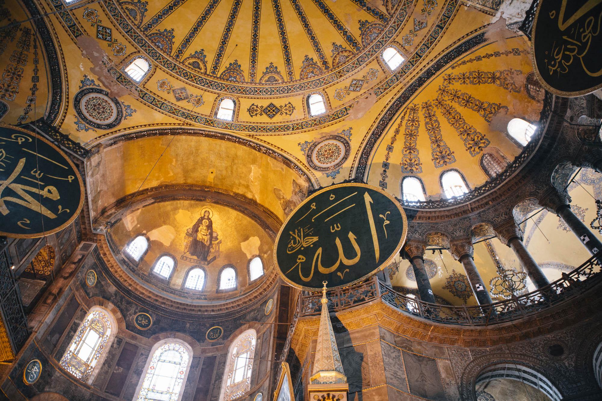 Istanbul - Intérieur de la Basilique Sainte Sophie Ayasophya