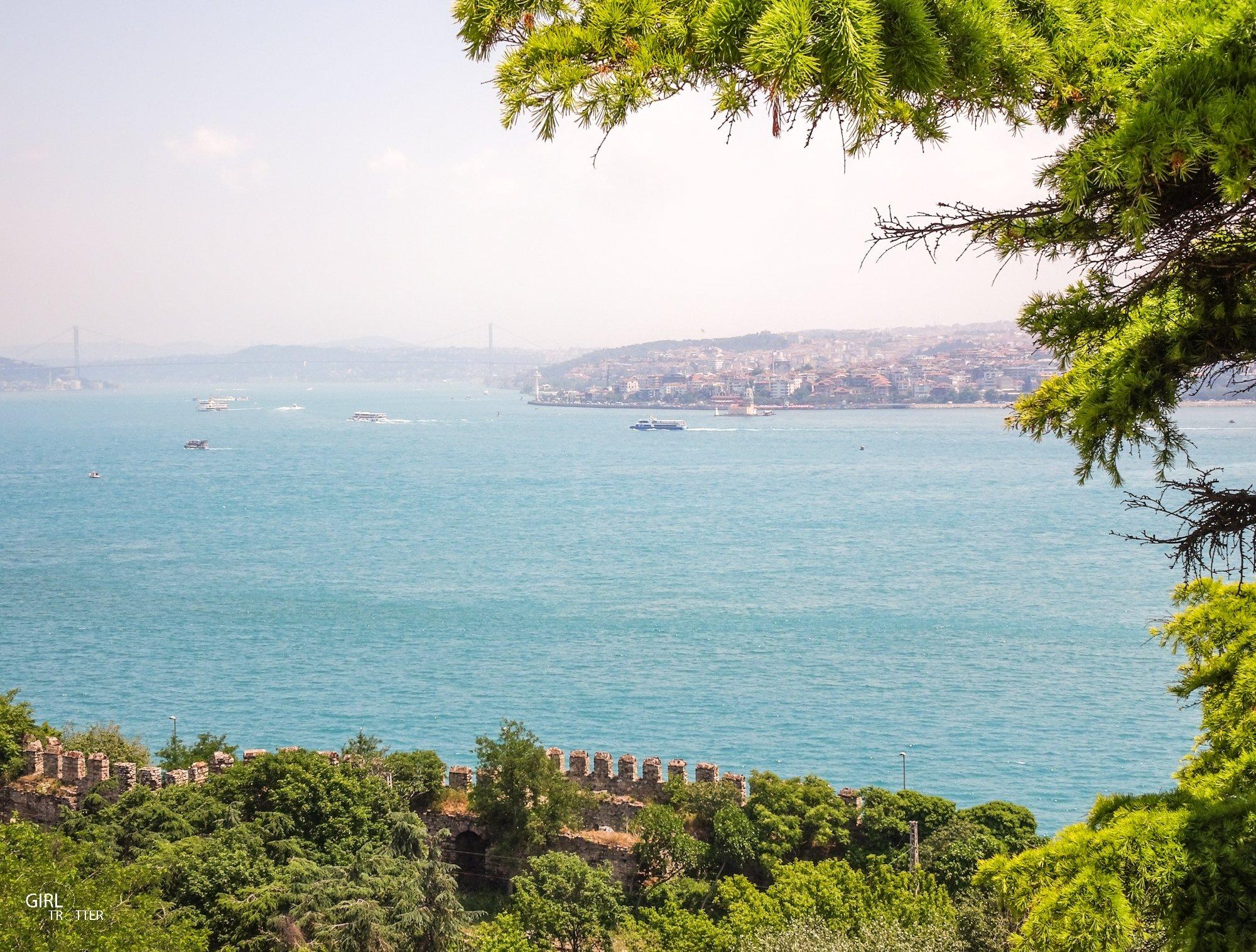 Vue du Palais de Topkapi sur le Bosphore à Istanbul