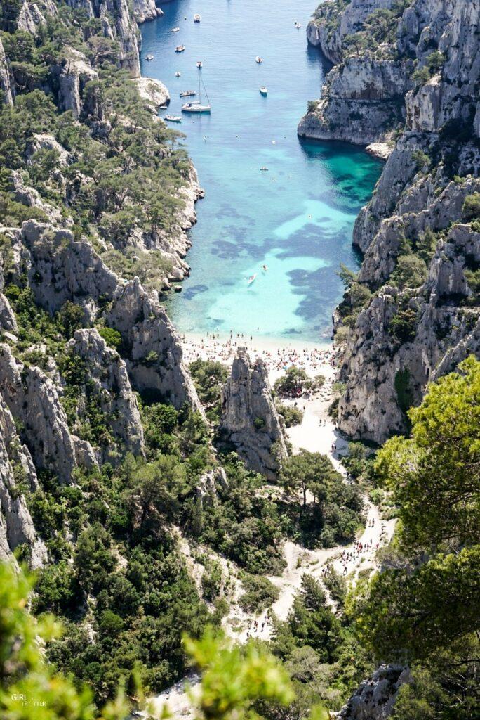 Calanque d'En Vau à Marseille