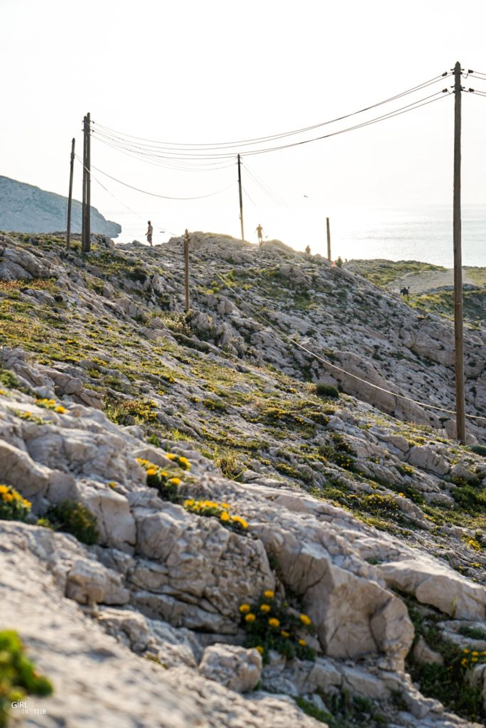 Coucher de soleil aux Goudes à Marseille