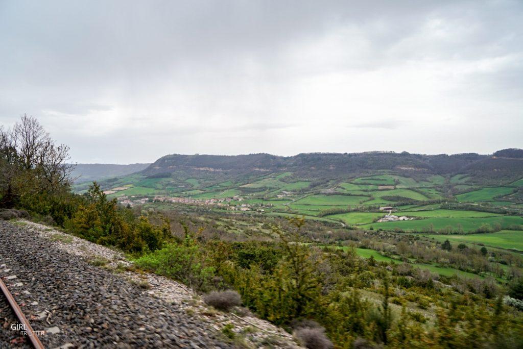 Sur les rails du Larzac en Aveyron