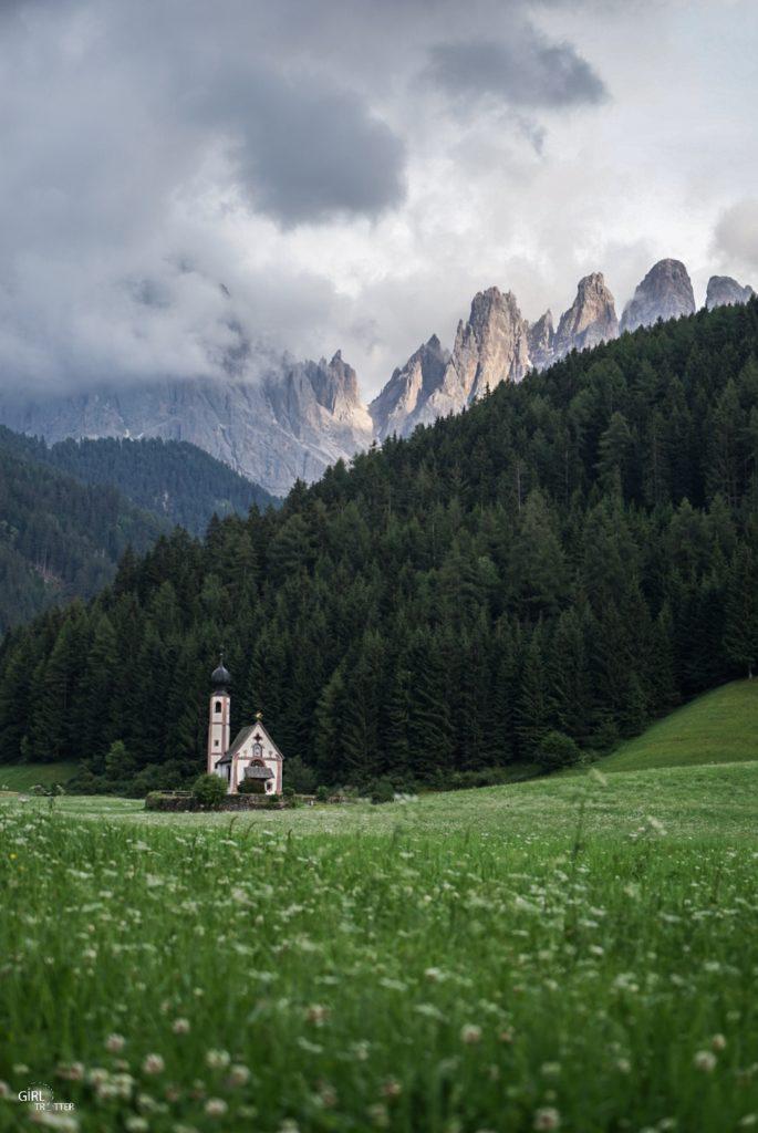Eglise baroque San Giovanni in Ranui du Val di Funes