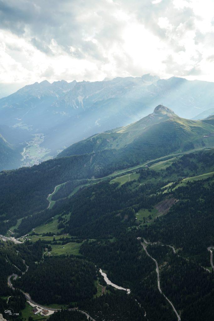 Pass Pordoi Dolomites