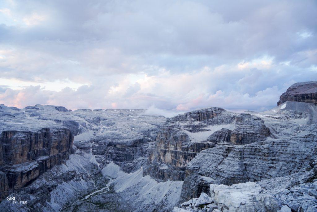 Pass Pordoi Dolomites coucher de soleil