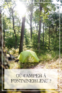 Epingle Pinterest - camper a Fontainebleau - Girltrotter