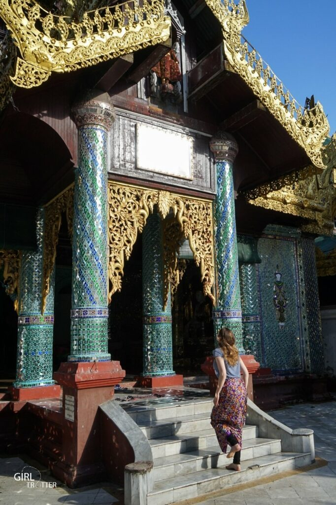 Swe da gon Pagoda de Yangon au Myanmar