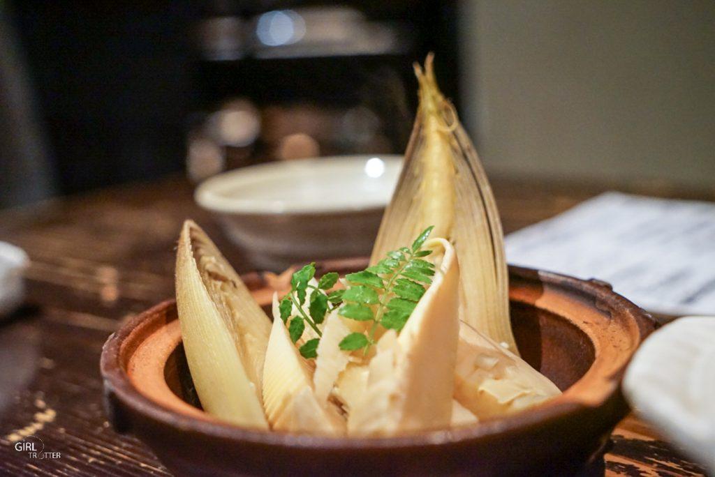 Restaurant de légumes à Kyoto - bambou à manger