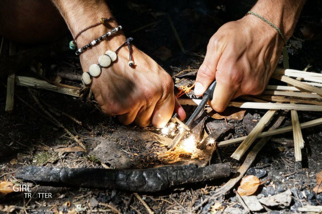 Firesteel pour allumer un feu sans briquet