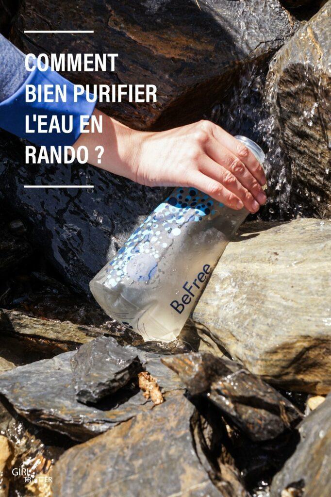 Les techniques de purification de l'eau en randonnée