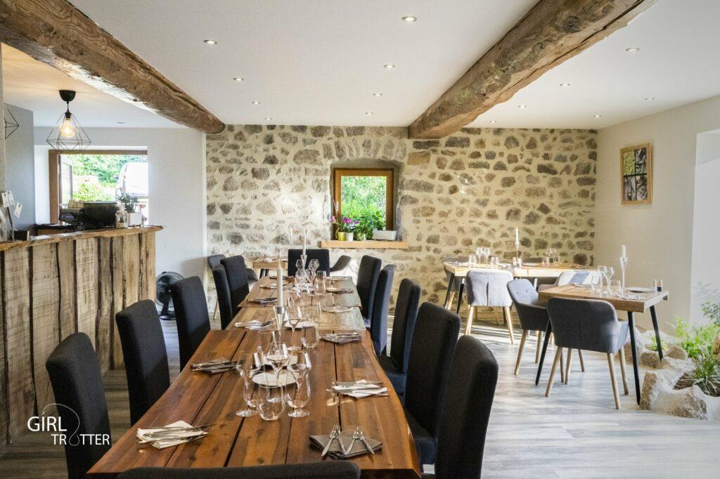 Le Jardin des 4 M restaurant à Saint Régis du coin au coeur du Pilat dans la Loire