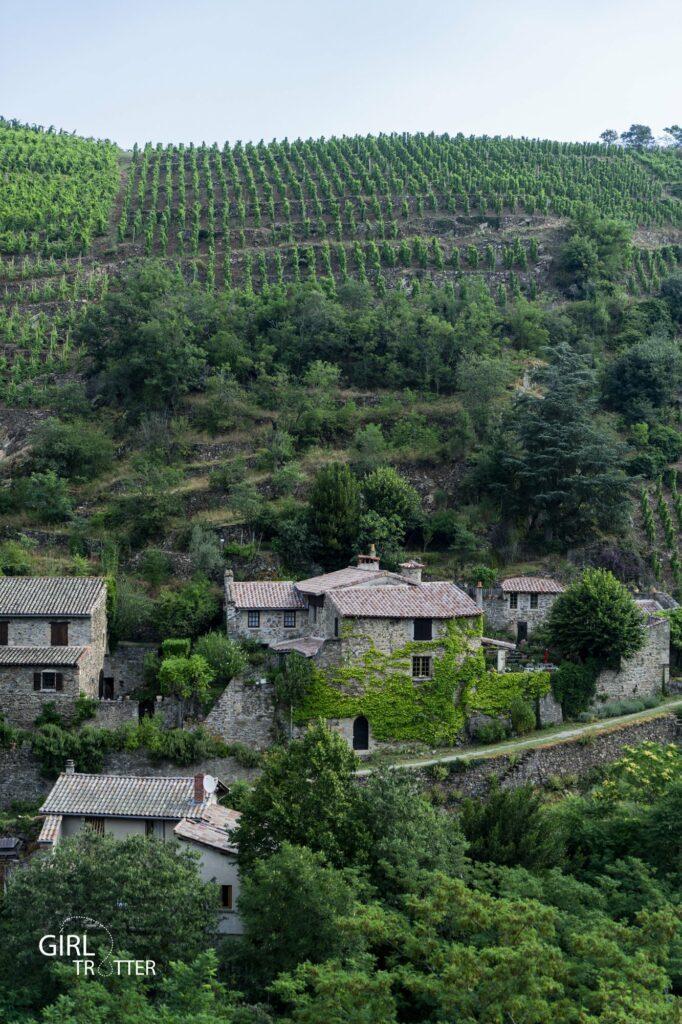 Malleval et vignes en coteaux - Weekend Loire Parc naturel régional du Pilat