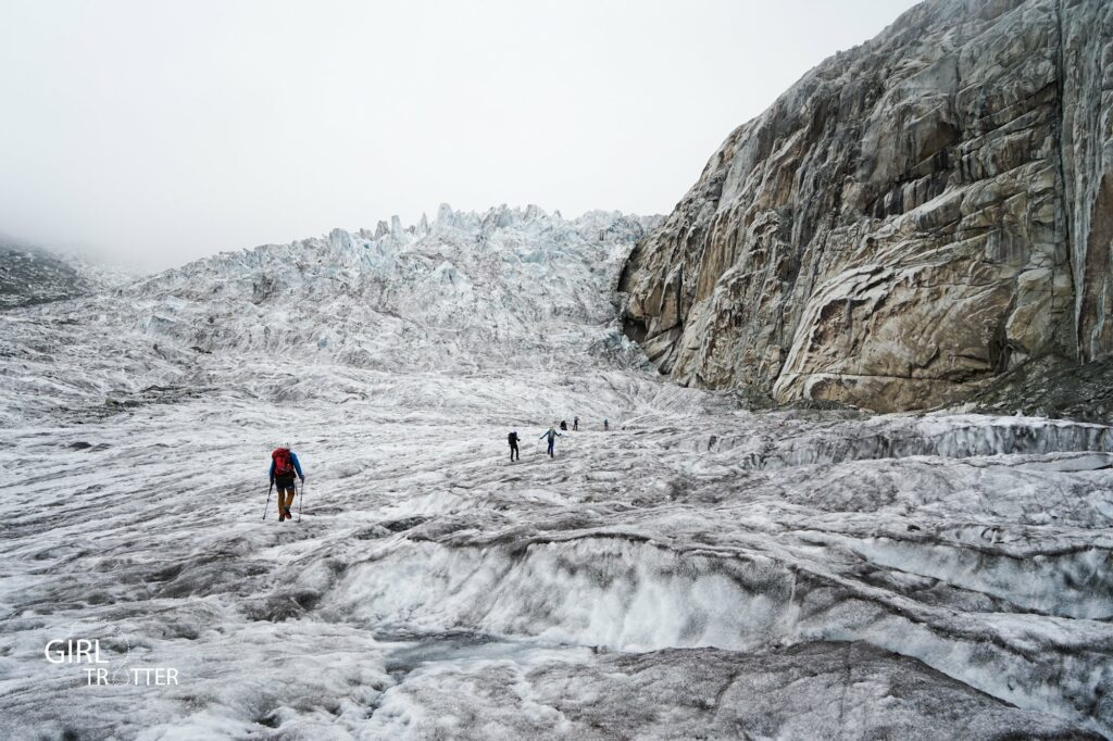 Alpinisme sur le glacier de Chamonix Savoie