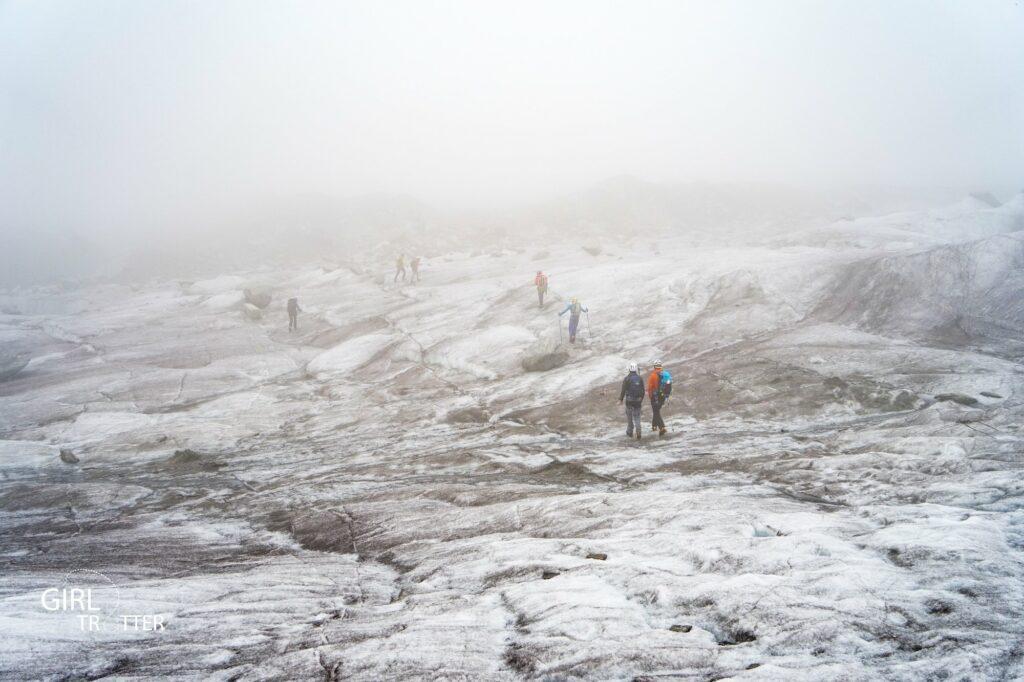 Marcher sur la de glace de Chamonix