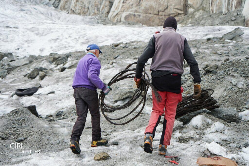 Nettoyage de la Mer de Glace Chamonix