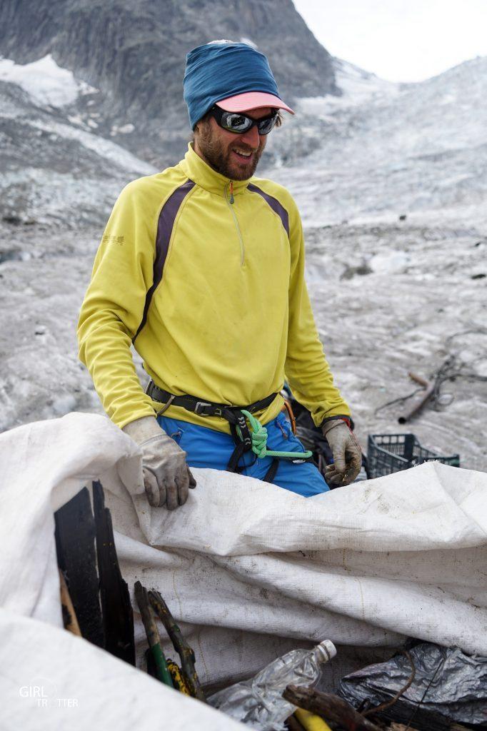 Nettoyage de la montagne avec Lafuma Mer de Glace Chamonix