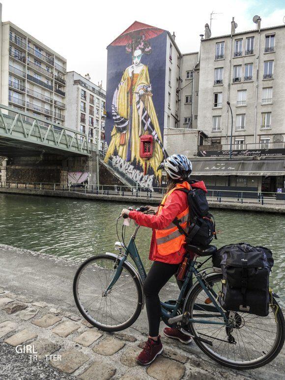 Mad Jacques Vélo Picardie - Canal de l'Ourcq Paris street art