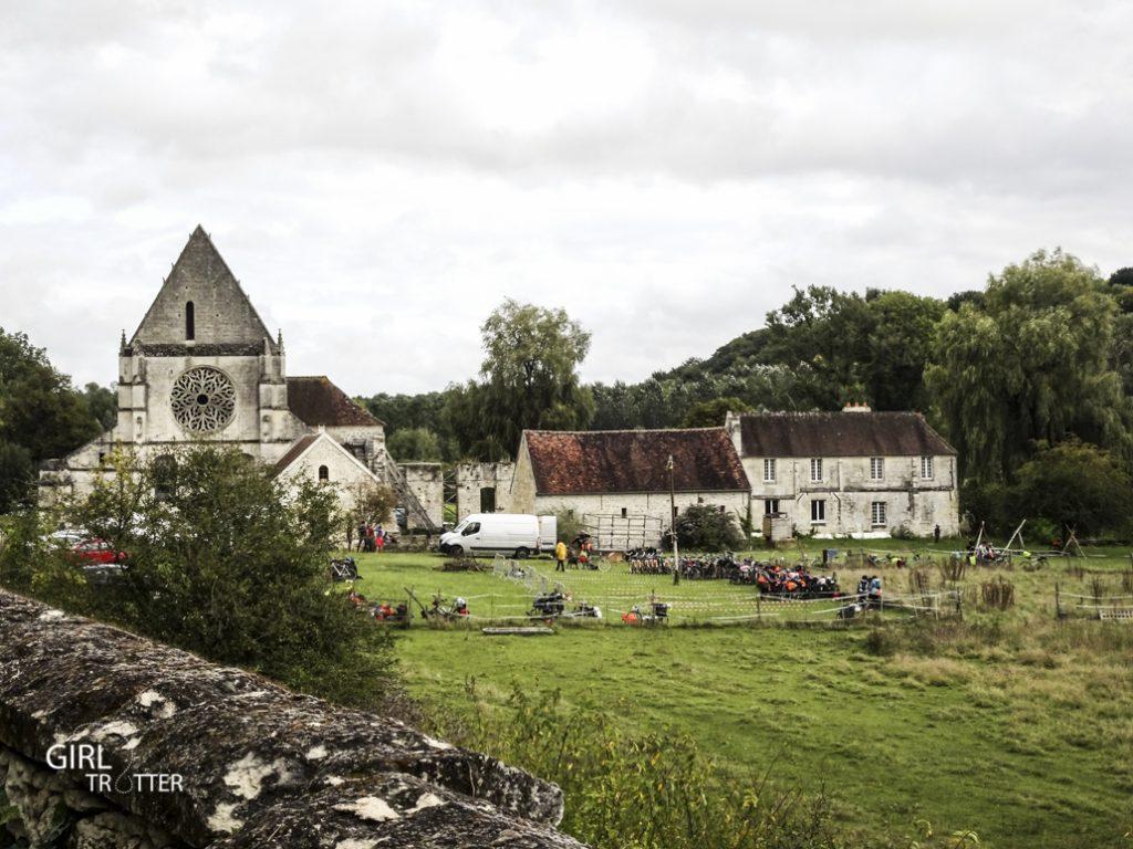 Le Mad Jacques vélo en Picardie - Abbaye de Lieu-Restauré