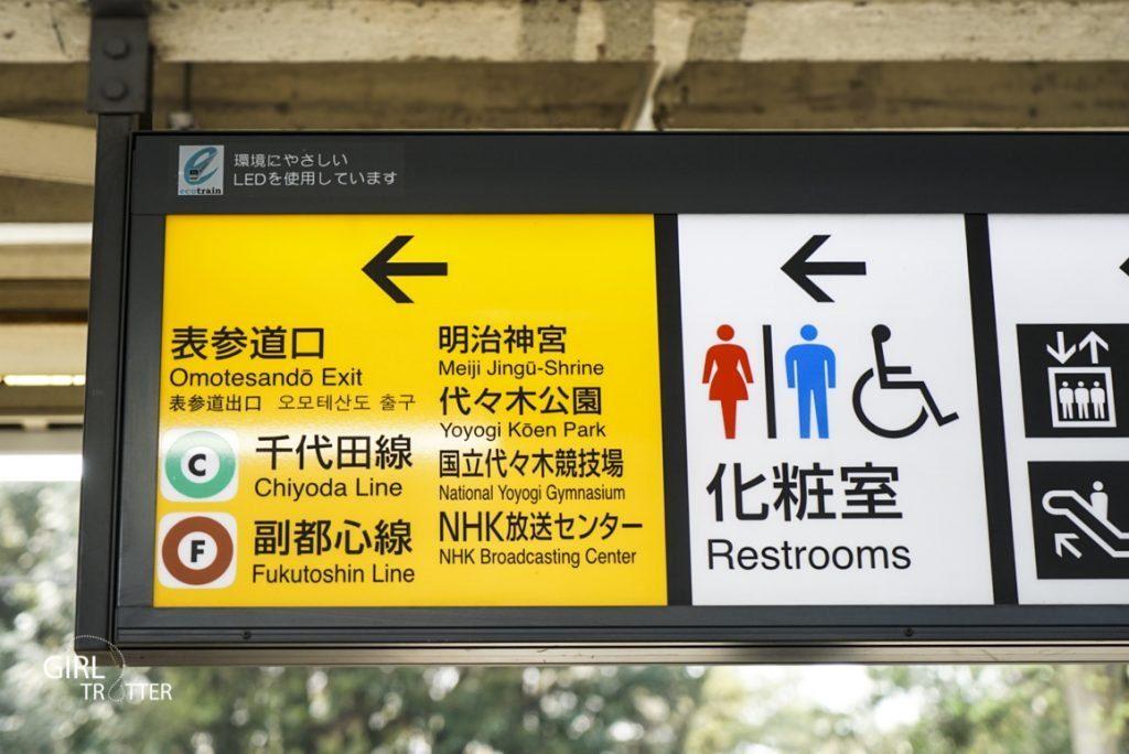Signalétique métro Japon pour se repérer