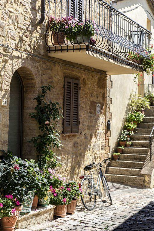 Ruelle Pienza Toscane Italie