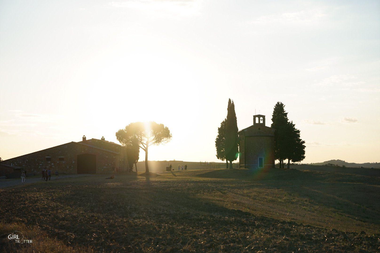 San Quiricho d'Orcia chapelle della Madonna di Vitaleta