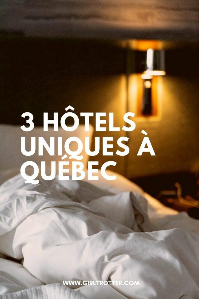 Trois hôtels de charme où dormir autour de la ville de Québec