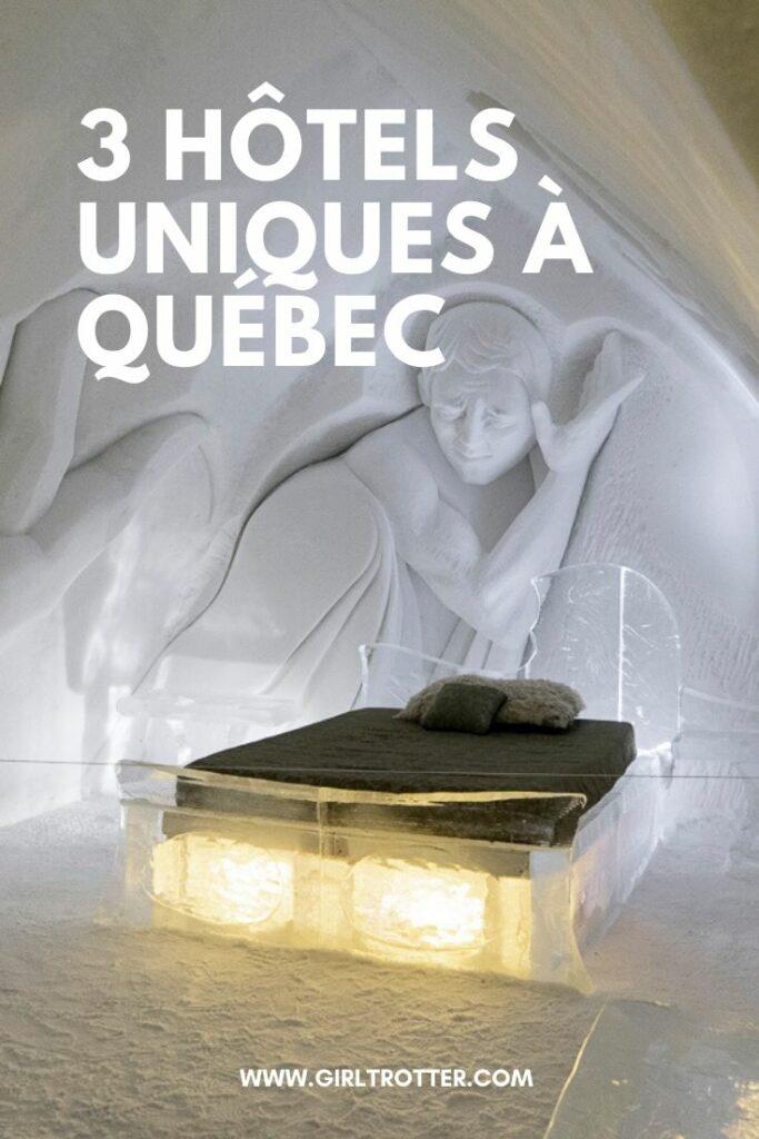Trois hôtels de luxe uniques où dormir autour de la ville de Québec