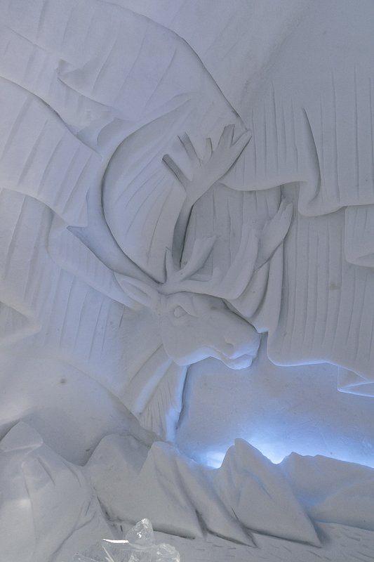 Sculpture de glace de l'Hôtel de glace de Québec