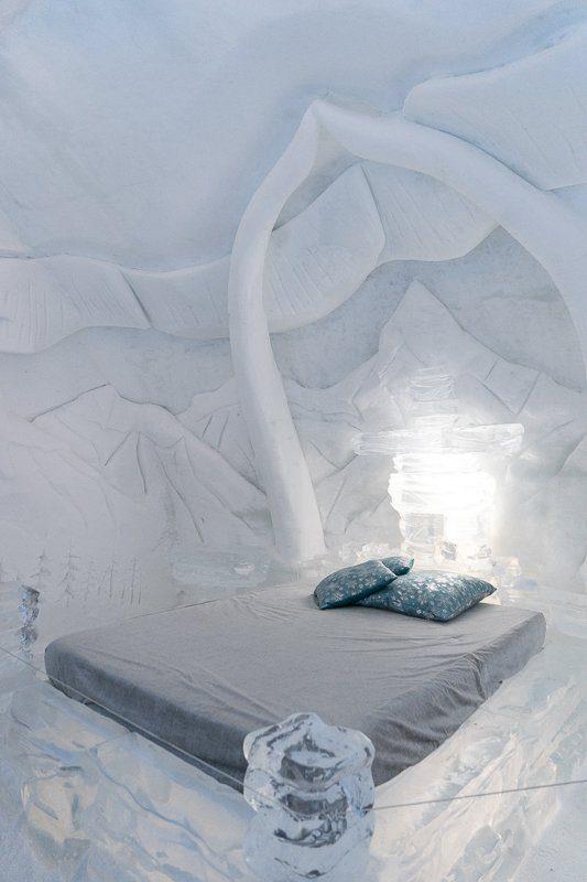 Chambre de l'Hôtel de glace de Québec