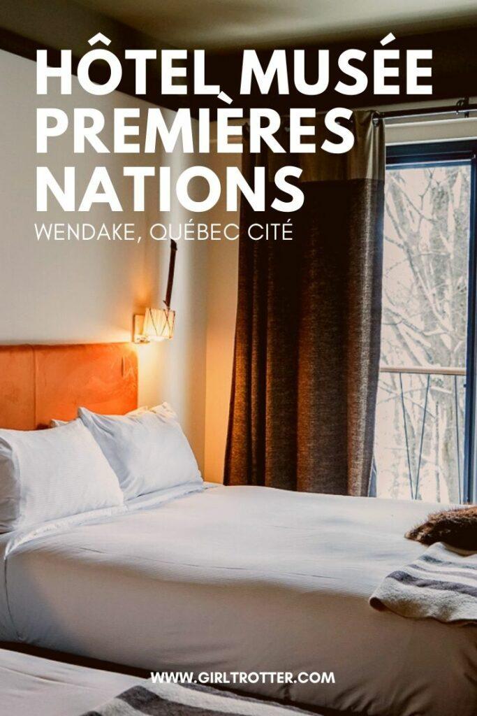 Dormir dans la region de Québec a la boutique Hotel musée Premières Nations de Wendake proche Québec
