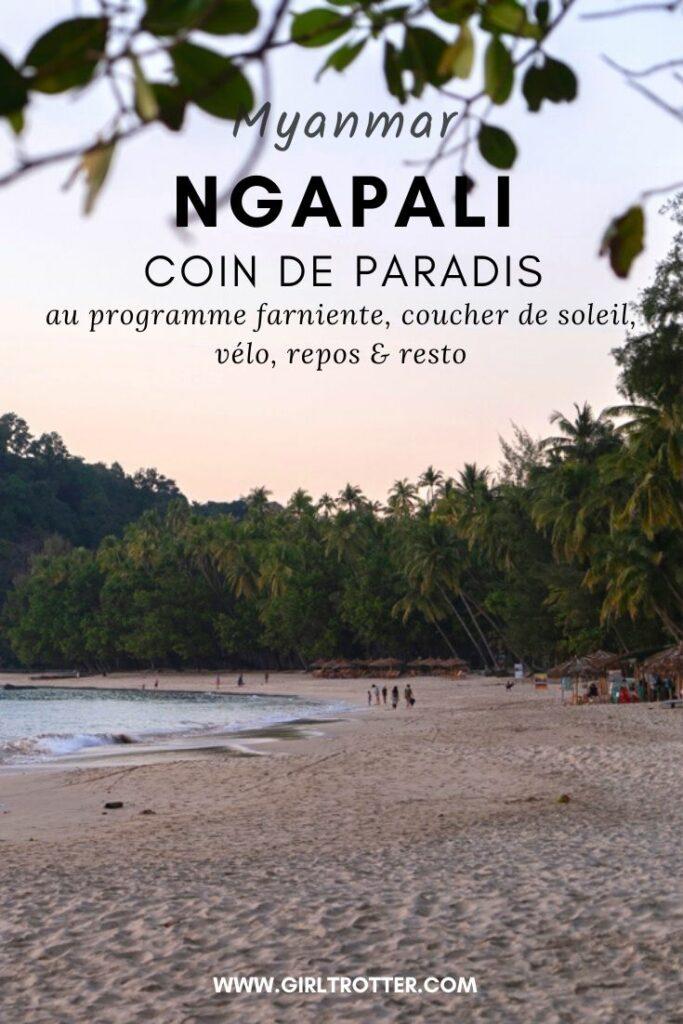 Ngapali Beach - Vacances au Myanmar Birmanie