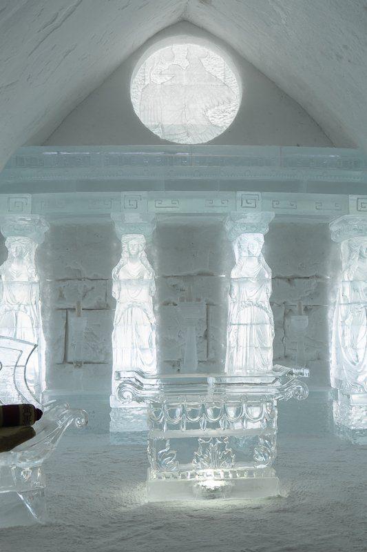 Se marier dans la chapelle de l'Hôtel de glace de Québec en hiver