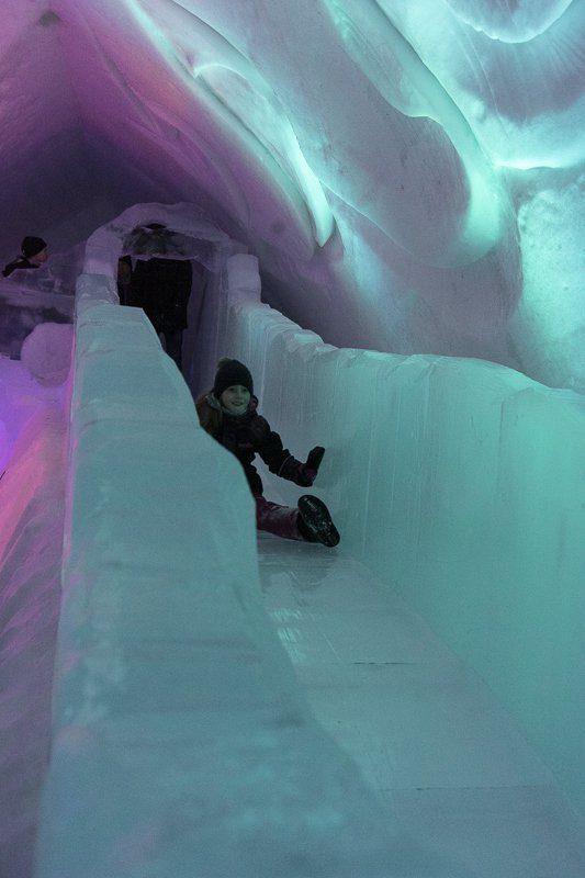 Visiter l'Hôtel de glace de Québec en famille