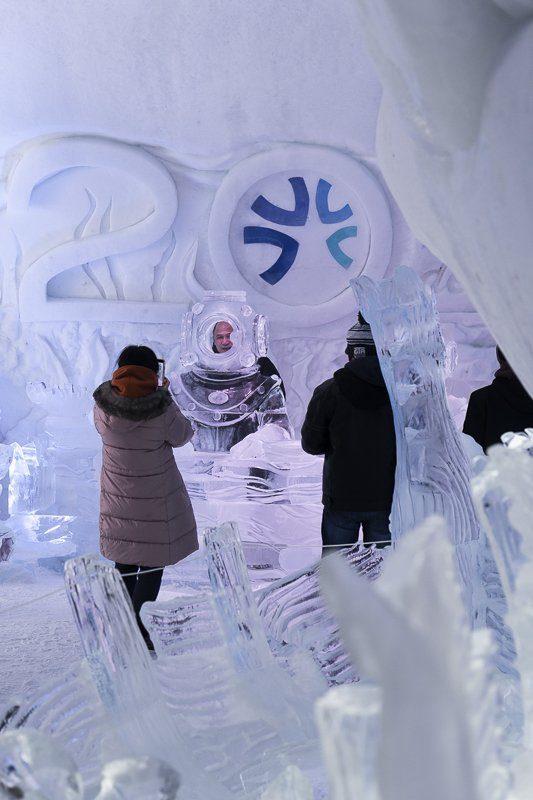 Visiter l'Hôtel de glace de Québec en hiver