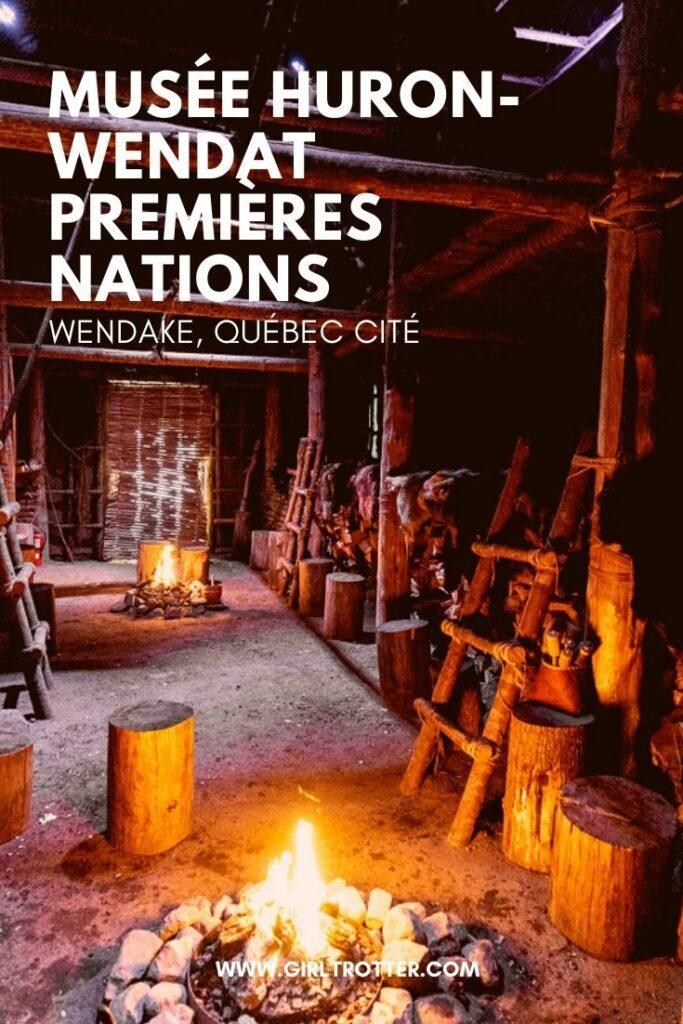 Visiter le musée Premières Nations Huron Wendat de Wendake proche Québec et passer une nuit insolite dans une maison traditionnelle