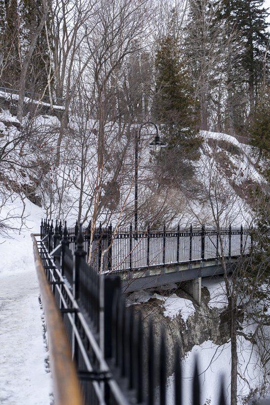 Parc des chutes de Montmorency en hiver, Quebec, Canada