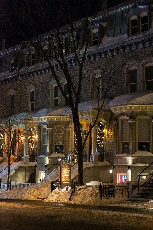 Ville de Québec de nuit, Canada