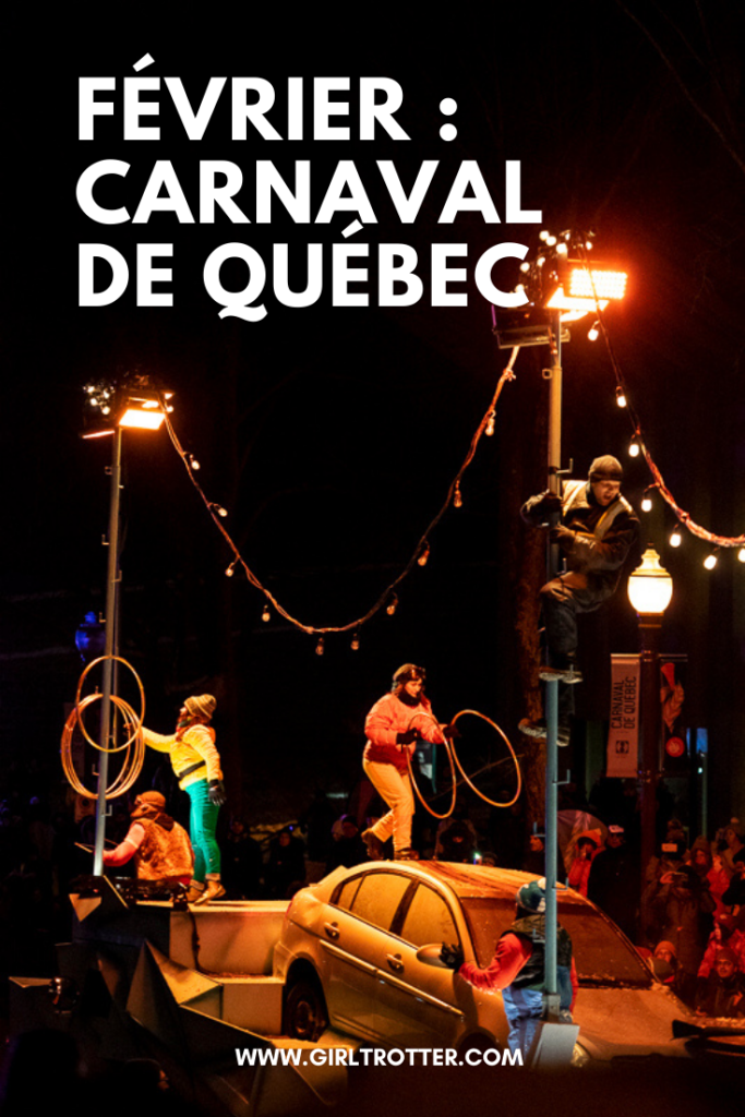 Carnaval de Québec en février hiver
